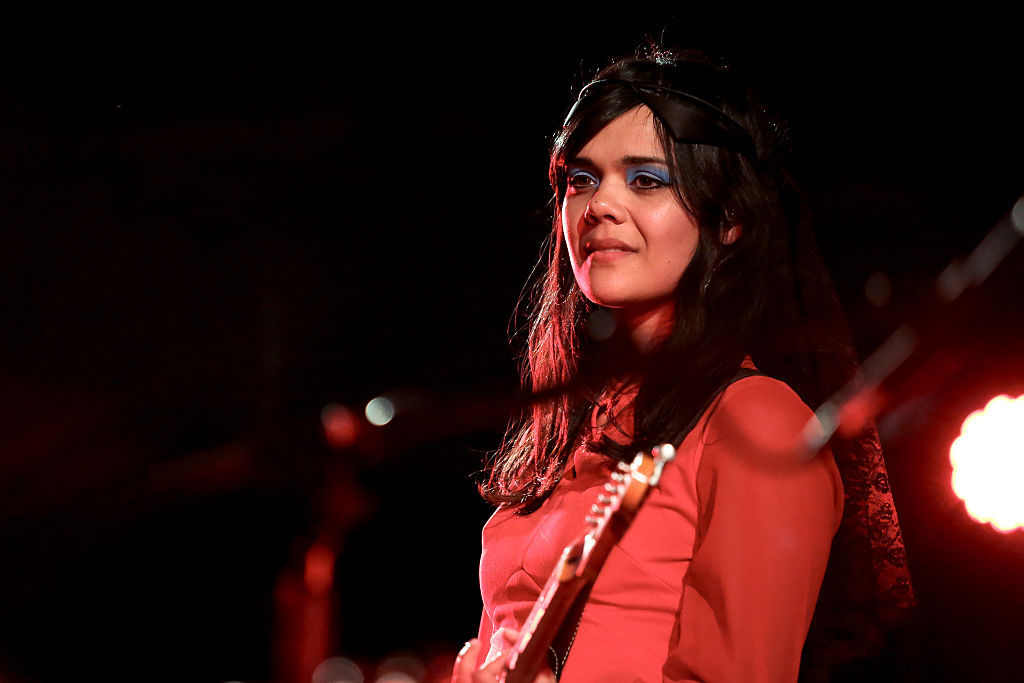 LONDON, ENGLAND - MAY 16:  Bat For Lashes performs on stage at Union Chapel on May 16, 2016 in London, England.  (Photo by Ch