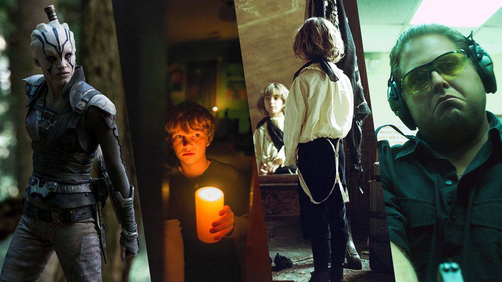 Jaylah (Sofia Boutella), Martin (Gabriel Bateman),  Prescott (Tom Sweet) und Efraim Diveroli (Jonah Hill)