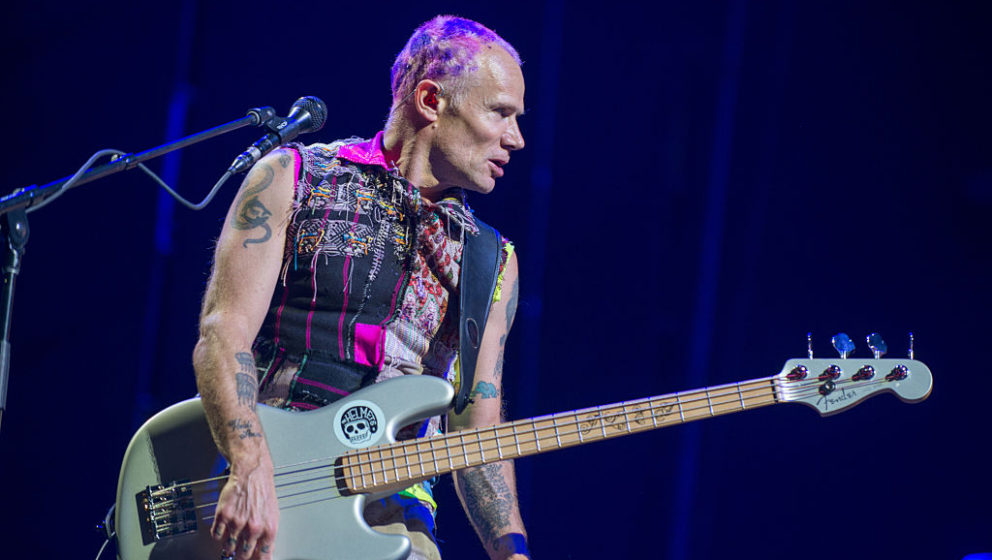 GDYNIA, POLAND - JUNE 30:  Flea of Red Hot Chili Peppers performs live at Open'er Festival at Gdynia Kosakowo Airport, on Jun