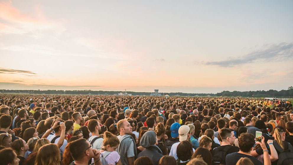 GDYNIA, POLAND - JUNE 30:  General view of the audience at Open'er Festival at Gdynia Kosakowo Airport, on June 30, 2016 in G