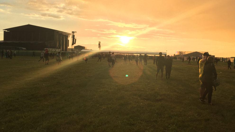 Sonnenuntergang beim Open'er Festival 2016 in Gdynia, Polen.