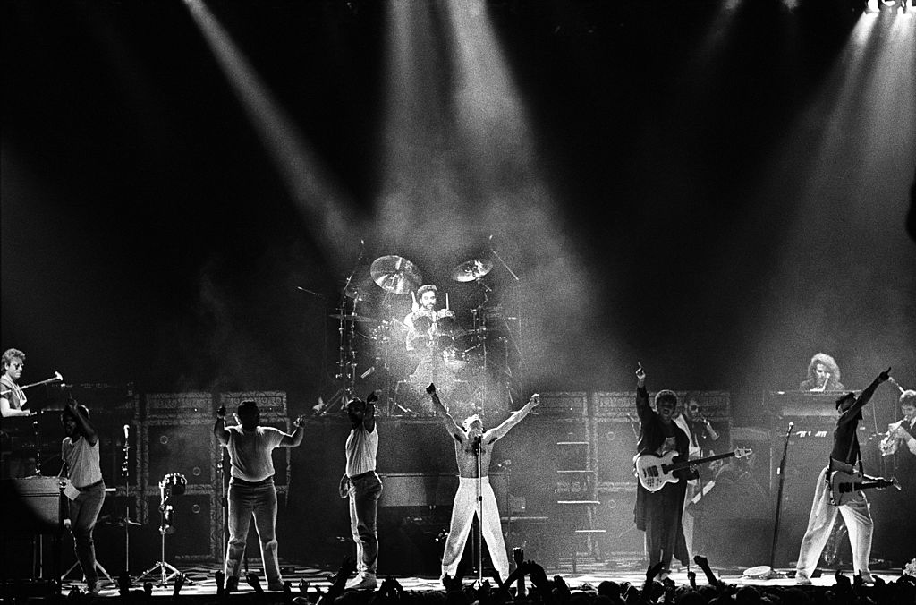 Prince and The Revolution perform on stage at Ahoy, Rotterdam, Netherlands, 17th August 1986. (Photo by Rob Verhorst/Redferns