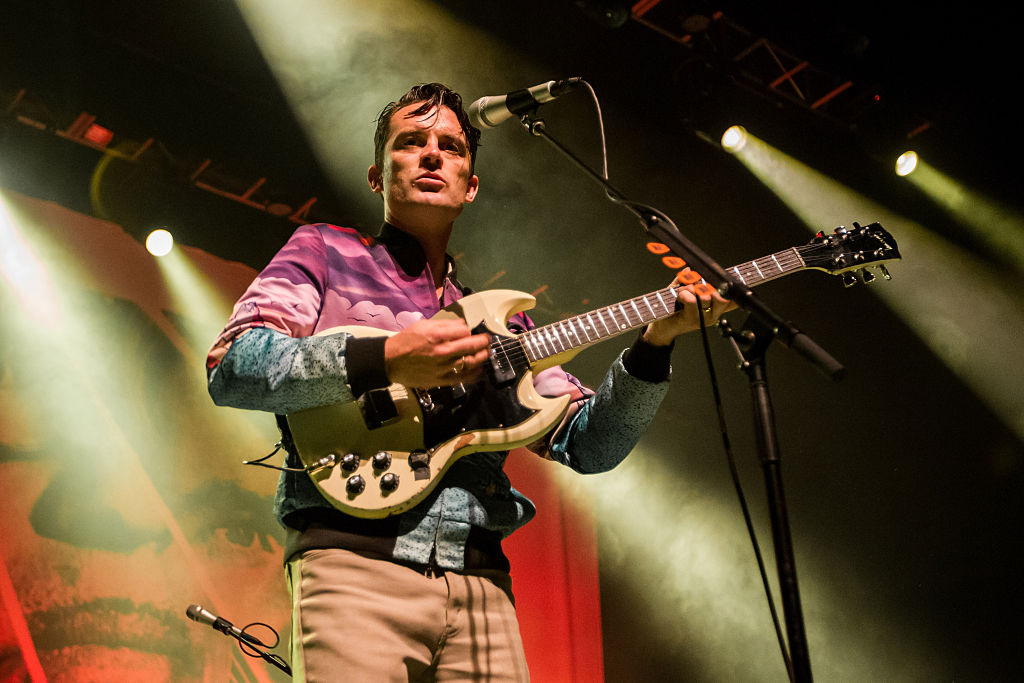 <> of FFS (Franz Ferdinand and Sparks) performs at Fox Theater on October 15, 2015 in Oakland, California.