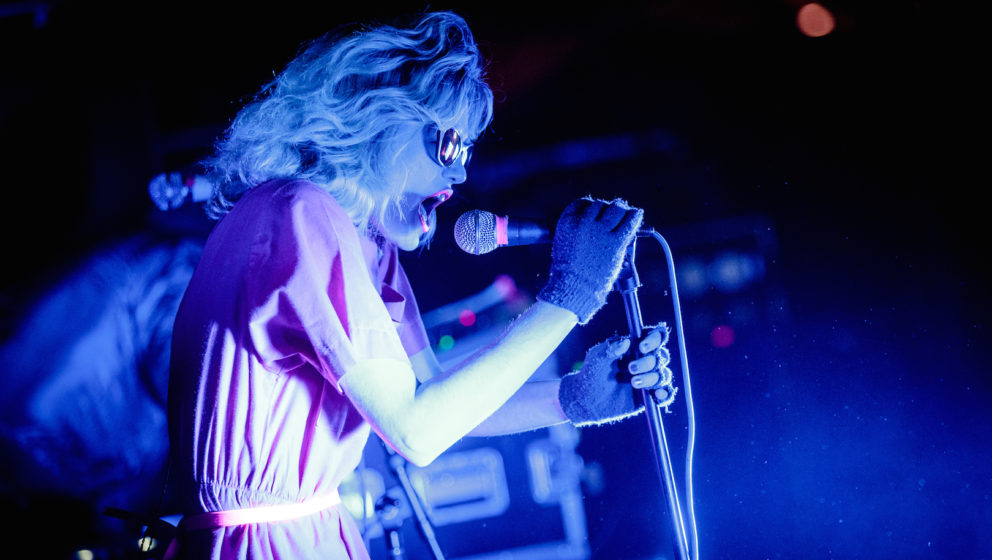 NEW ORLEANS, LA - MARCH 11:  Edith Frances of Crystal Castles performs on stage at the Buku Music & Arts Project on March