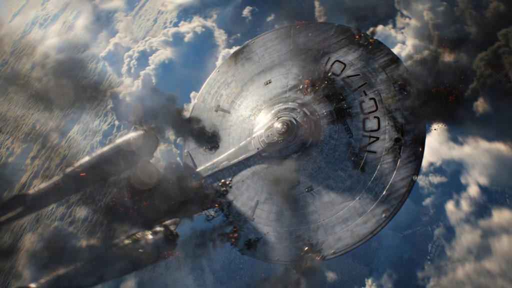 """Szene aus """"Star Trek Into Darkness"""": Die Enterprise stürzt ab"""