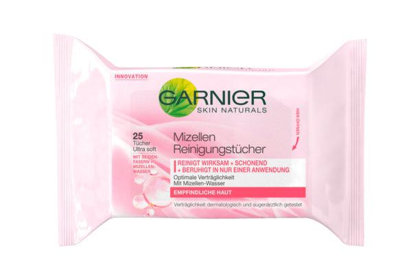 Garnier Mizellen-Reinigungstücher, ca. 2 Euro