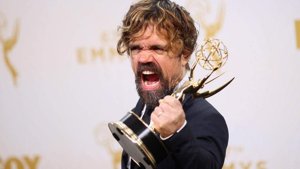 LOS ANGELES, CA - SEPTEMBER 20:  Actor Peter Dinklage, winner of the award for Outstanding Supporting Actor in a Drama Series