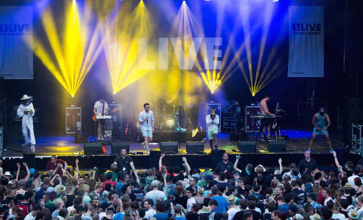 Die Band 'Susanne Blech' tritt am 03.07.2015 in Bochum (Nordrhein-Westfalen) beim Openair-Musikfestival 'Bochum Total' auf. I