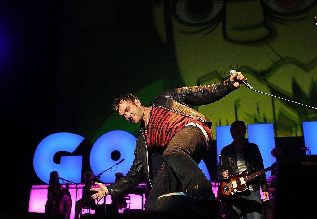 Damon Albarn bem Sydney-Konzert der Gorillaz im Jahr 2010