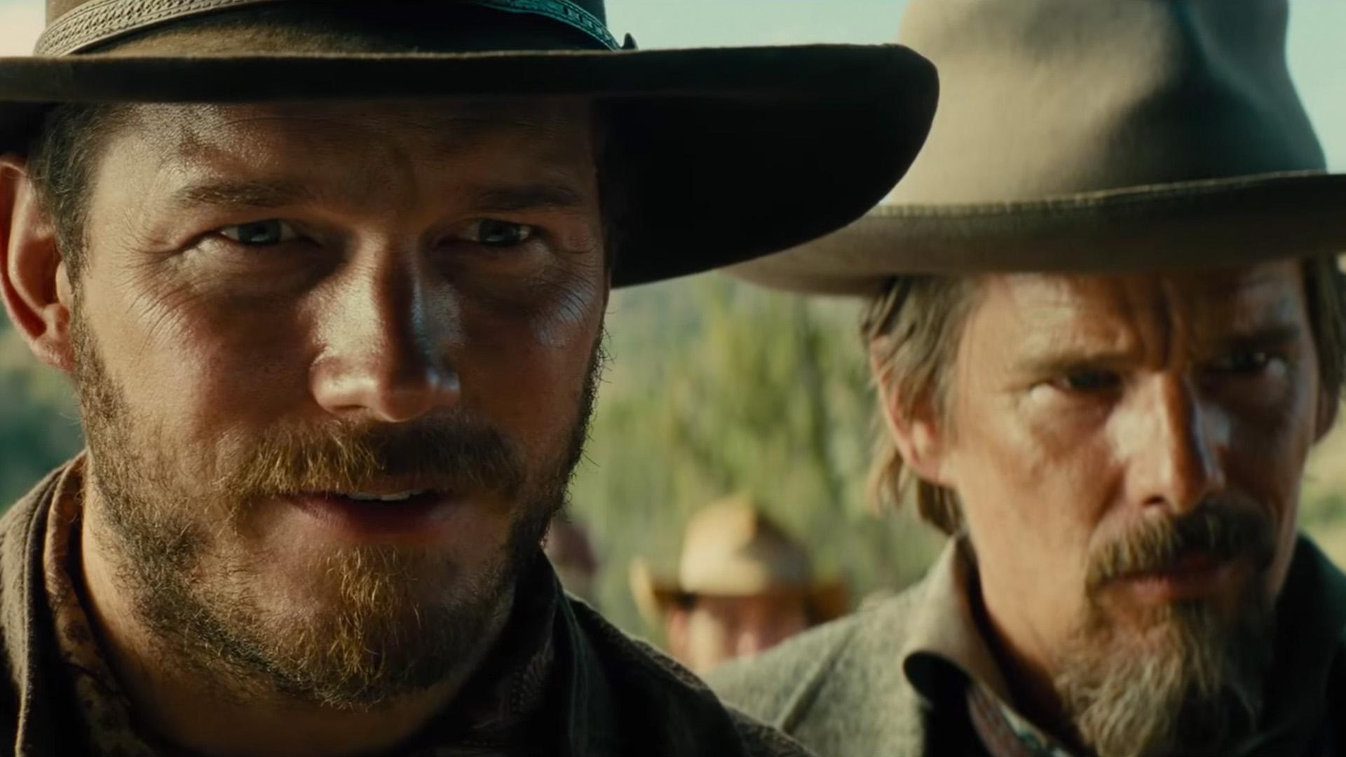 """Chris Pratt und Ethan Hawk in """"Die glorreichen Sieben""""."""