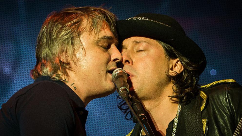 Pete Doherty und Carl Barat beim Libertines-Konzert Ende Januar 2016 in der O2-Arena London.