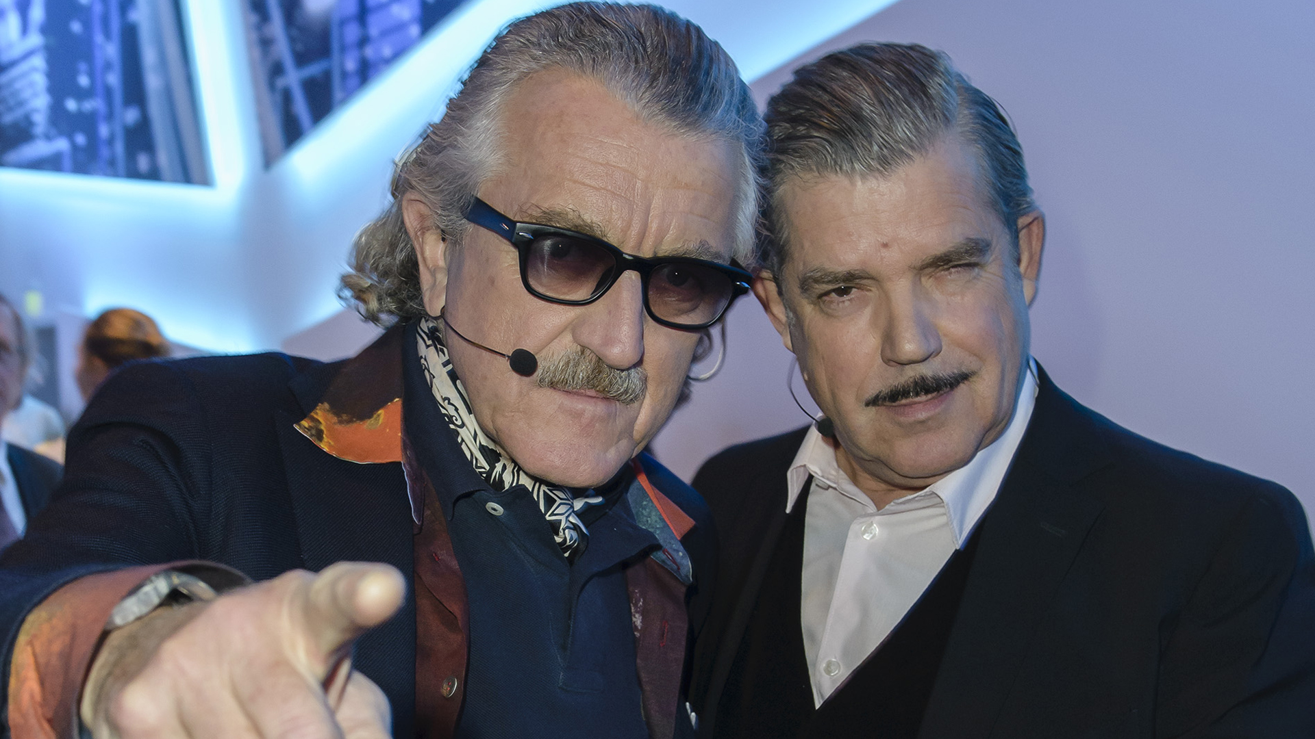 BERLIN, GERMANY - MARCH 08: Dieter Meier (L) and Boris Blank of the group Yellow attend the 'Electrified! The Late Night' at
