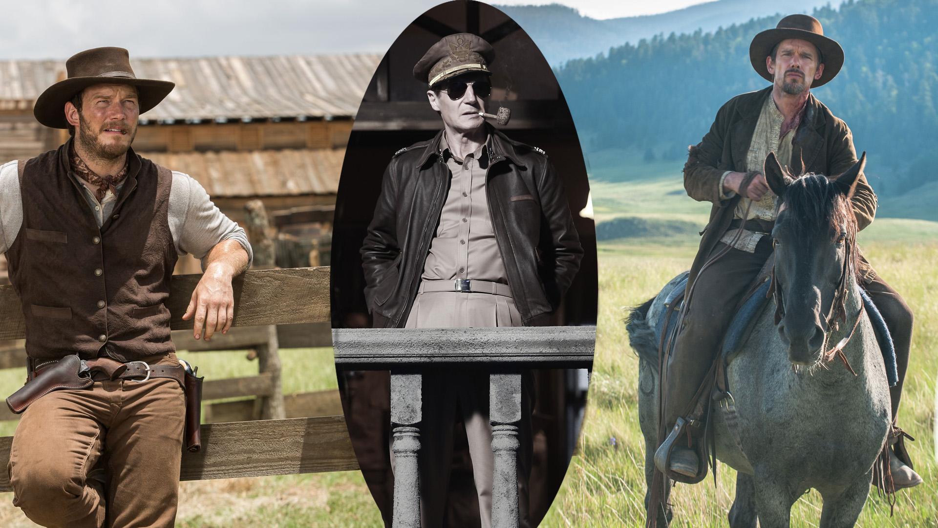 Josh Farraday (Chris Pratt), Douglas MacArthur (Liam Neeson) und Paul (Ethan Hawke).