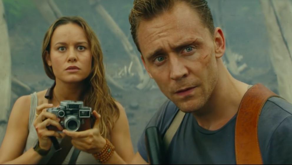 Staunen nicht schlecht: Tom Hiddleston und Brie Larson sind in einem Vietnam-Kriegsfilm gelandet.