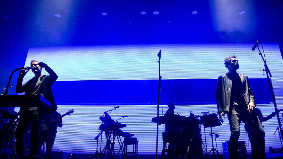 Robert Del Naja und Grant Marshall von Massive Attack beim Super Bock Super Rock Festival Mitte Juli in Lissabon.