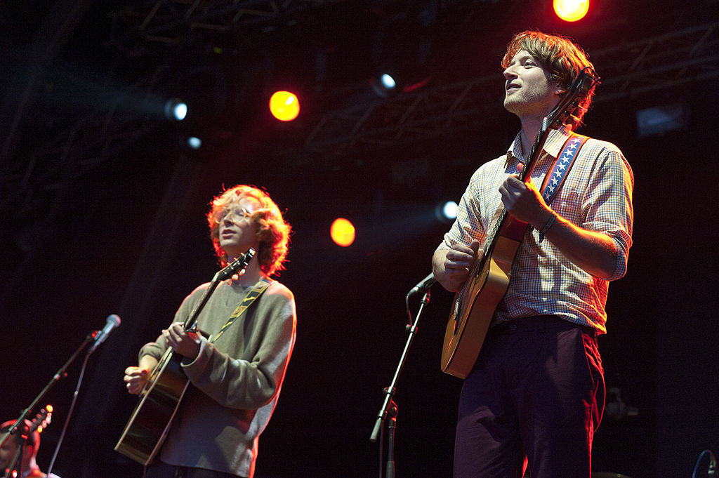 BARCELONA, SPAIN - JUNE 02: Eirik Glambek Boe and Erlend Oye of Kings of Convenience perform on stage during Primavera Sound