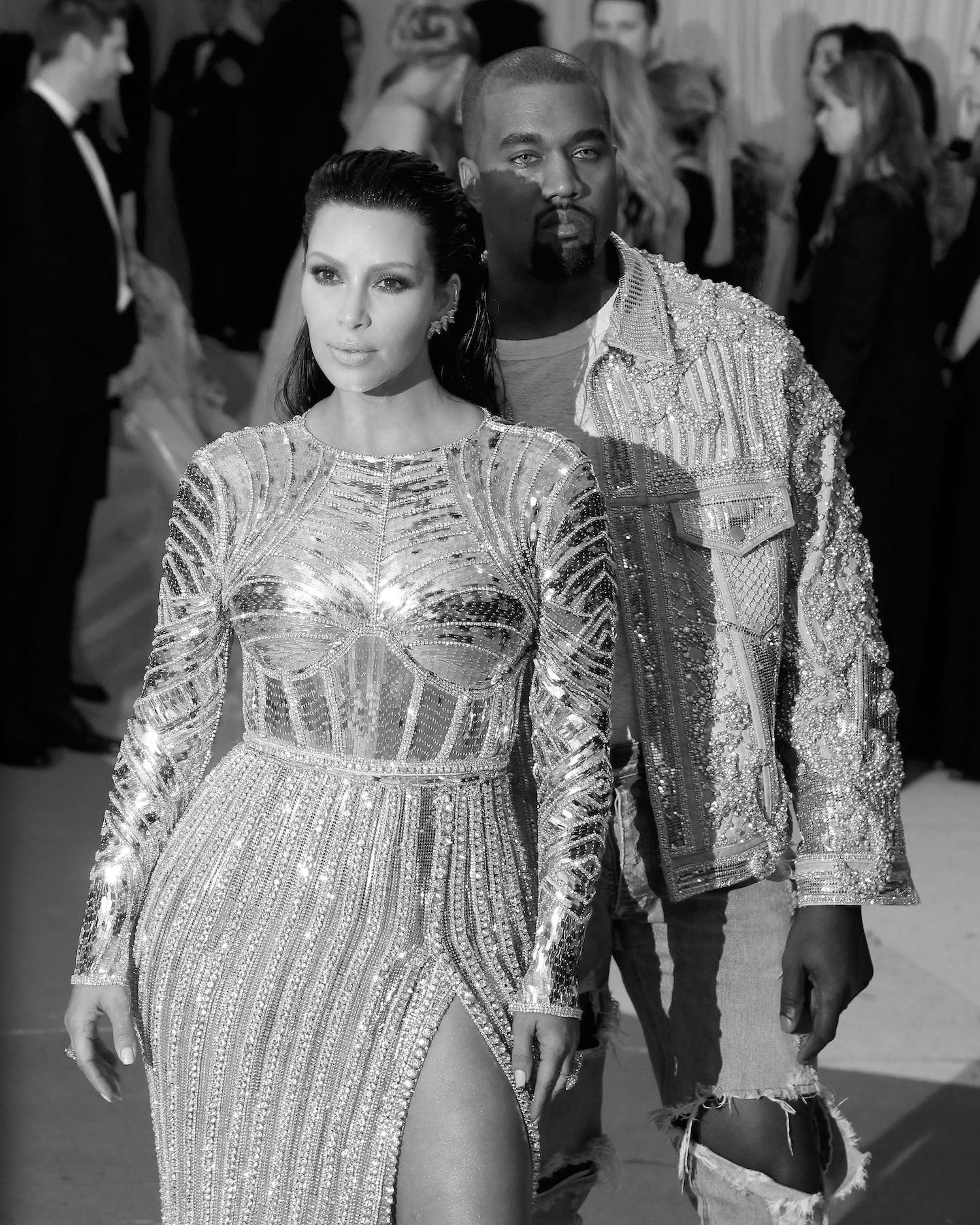 Kim Kardashian und Kanye West auf der MET-Gala 2016.