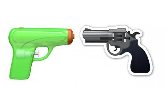 Die niedliche Wasserpistole ersetzt den Revolver.