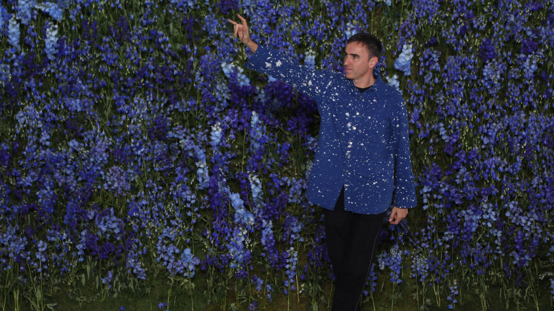 PARIS, FRANCE - OCTOBER 02:  Raf Simons walks the runway during the Christian Dior show as part of the Paris Fashion Week Wom
