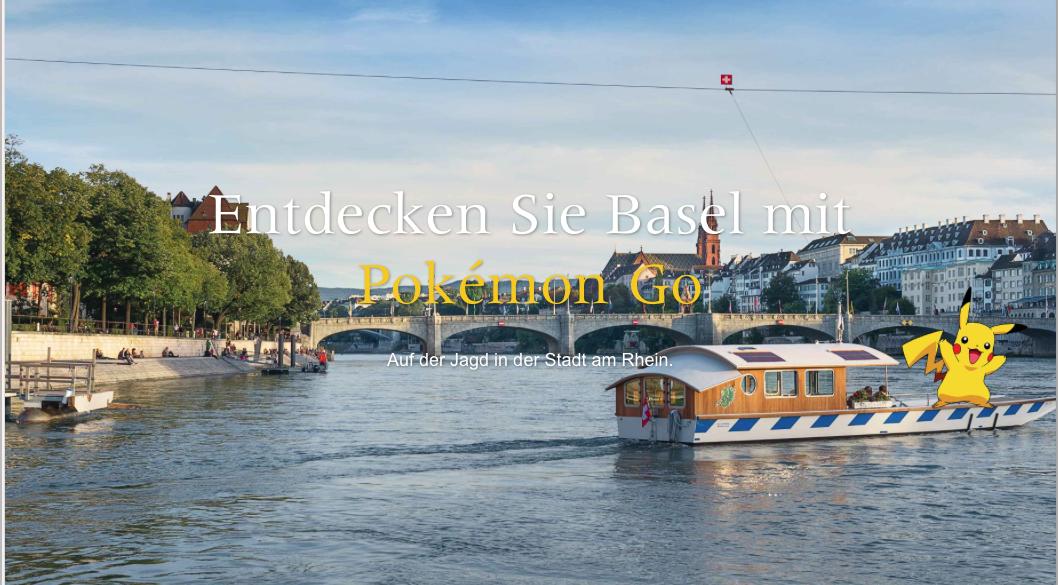 Werbung für Pokémon Go in Basel