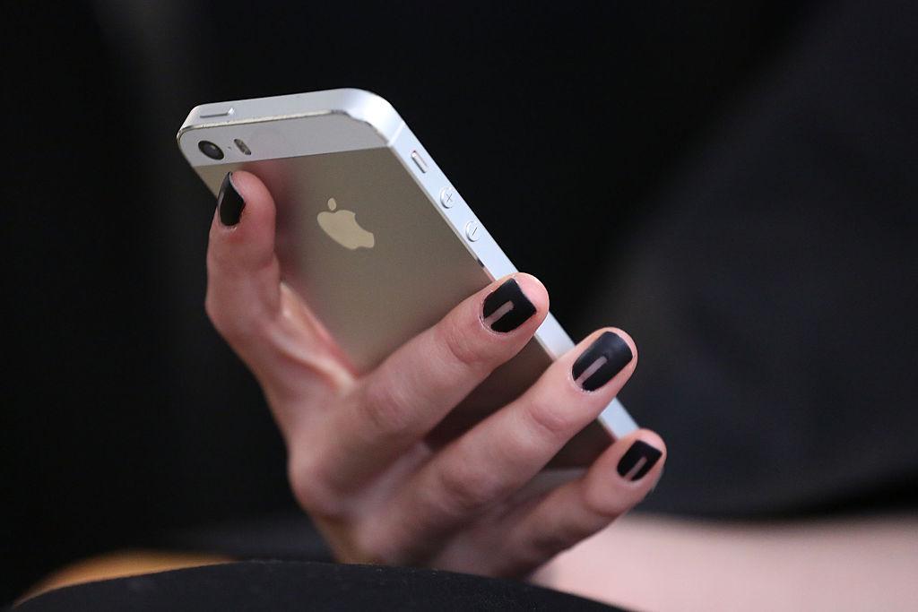 Ein iPhone bei der Fashion Week in New York