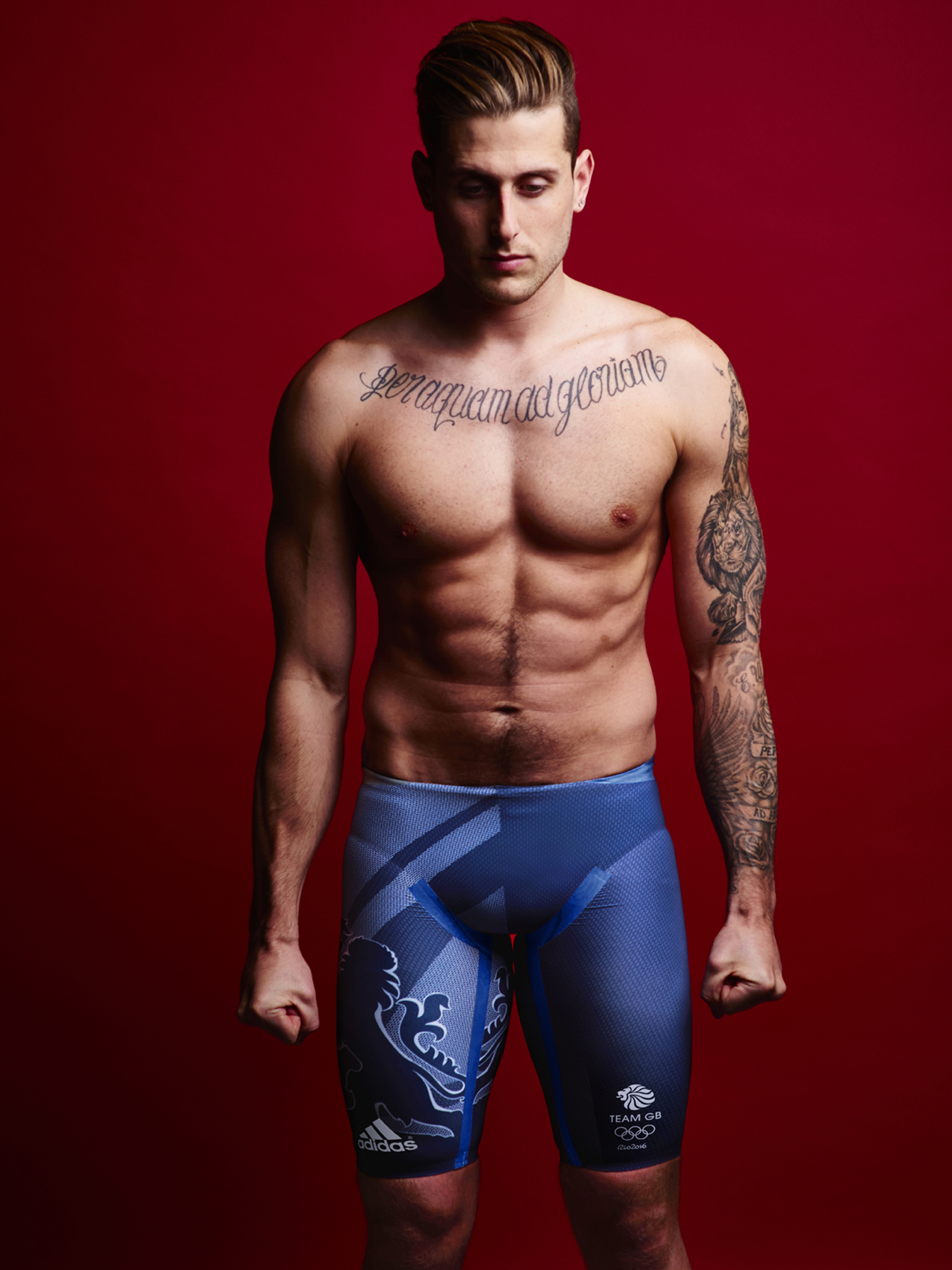 LONDON, ENGLAND - UNDATED: In this handout image from adidas, Team GB athlete Chris Walker-Hebborn pictured in adidas Team GB Rio 2016 Olympic kit in London, England. (Photo by Ben Duffy/adidas/Handout/Getty Images)