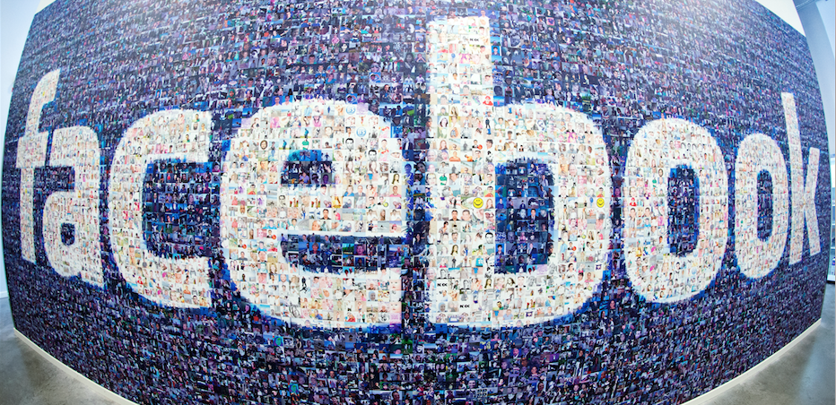 Facebook-Logo in schwedischer Zweigstelle.