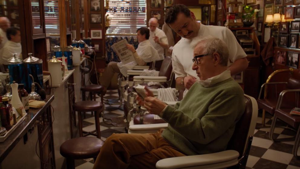 """Woody Allen möchte im ersten Clip zu """"Crisis in Sex Scenes"""" einen Haarschnitt wie James Dean."""