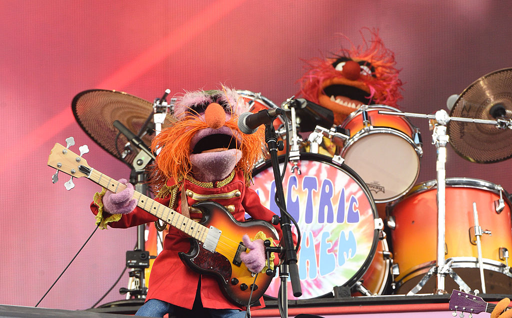 SAN FRANCISCO, CA - AUGUST 07:   Animal and Floyd Pepper of Muppet Band Dr. Teeth & the Electric Mayhem perform during th