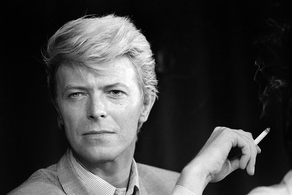 A portrait taken on May 11, 1983 shows British singer David Bowie during a press conference at the 36th Cannes Film Festival.