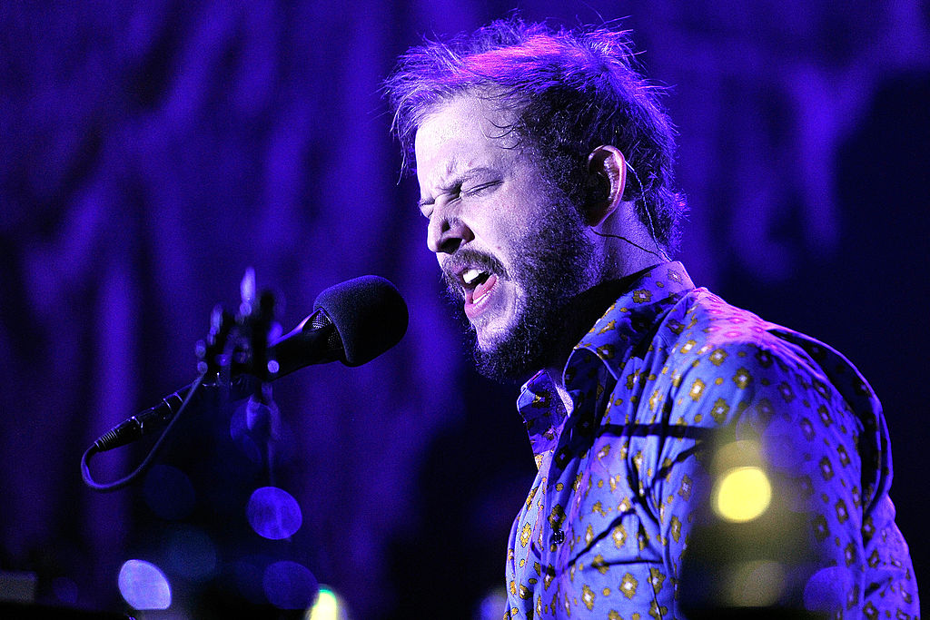 LONDON, ENGLAND - NOVEMBER 08:  Justin Vernon of Bon Iver performs at Wembley Arena on November 8, 2012 in London, England.