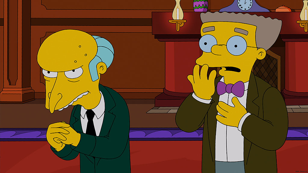 THE SIMPSONS: Mr. Burns gives his employees high-tech eyeglasses in order to spy on them in the 'Specs and the City' episode
