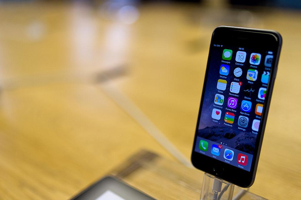 Das iPhone 6 bei einem Launch in London 2014