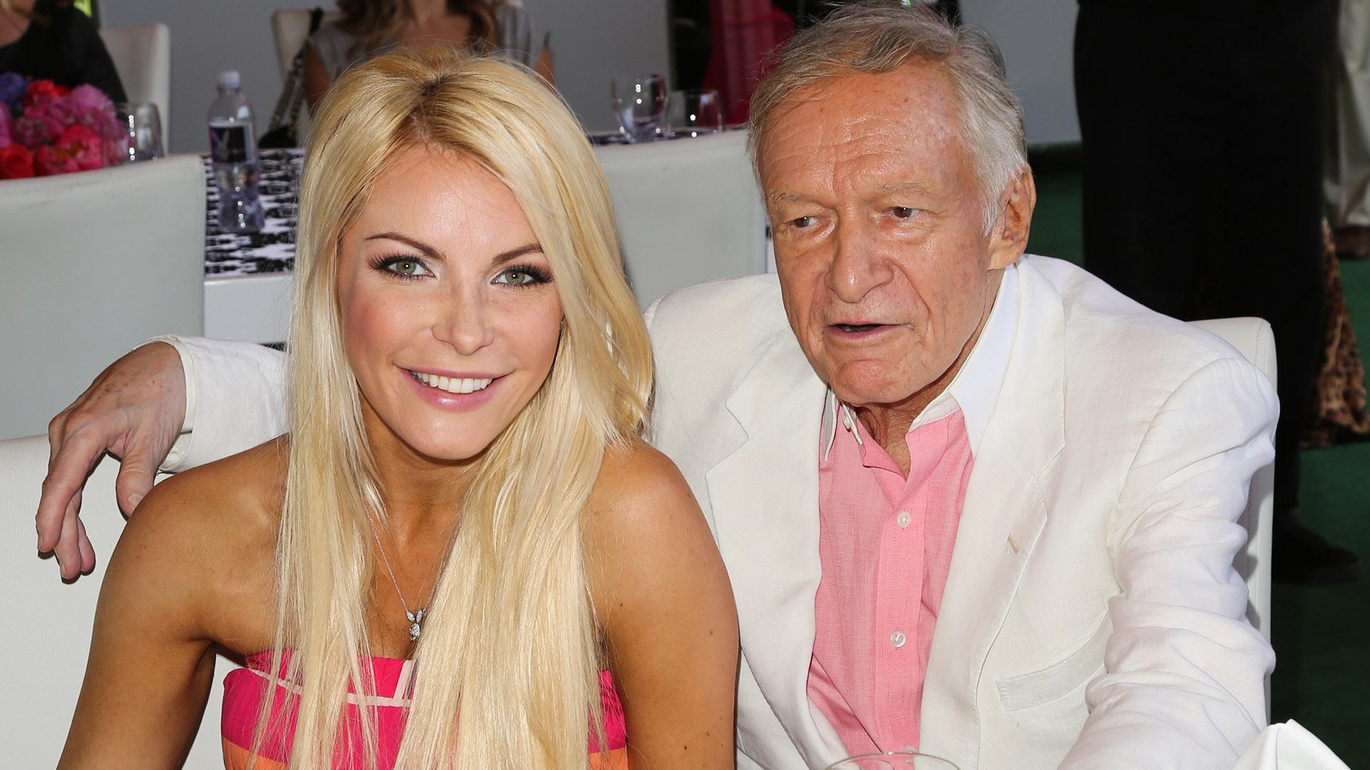 Hugh Hefner (90) mit seiner derzeitigen Ehefrau Crystal (30).