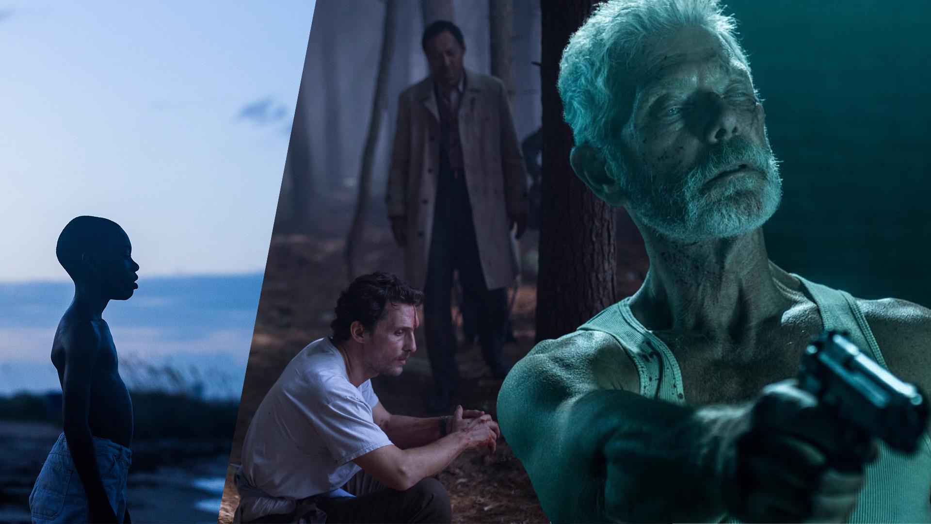Chiron (Ashton Sanders), Arthur Brennan (Matthew McConaughey) und der Blinde Mann (Stephen Lang).