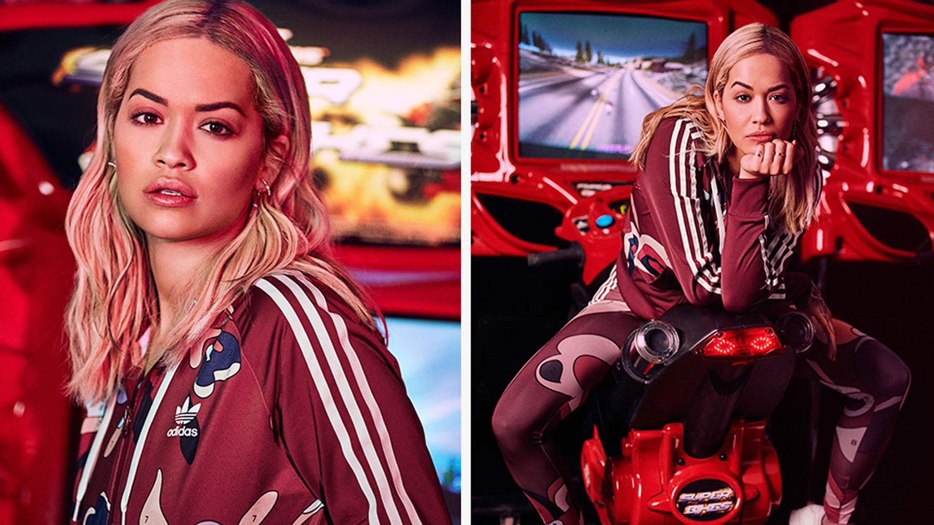 In einer weiteren Zusammenarbeit setzen Rita Ora und Adidas Originals der dunkleren Jahreszeit bunte Pieces entgegen.