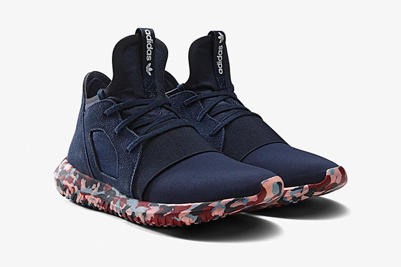 Ein bisschen urbane Camouflage: Der Tubular Defiant Sneaker für ca. 130 Euro.