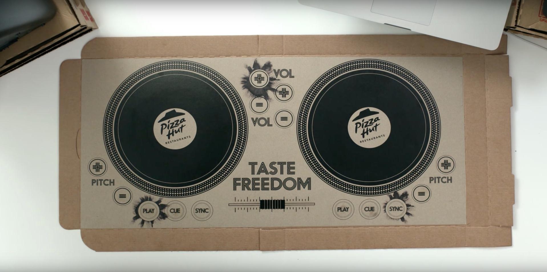 Das DJ-Deck von Pizza Hut