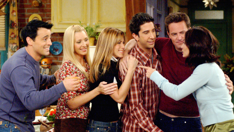 FRIENDS, Matt LeBlanc, Lisa Kudrow, Jennifer Aniston, David Schwimmer, Matthew Perry, Courteney Cox, 'The One With The Late T