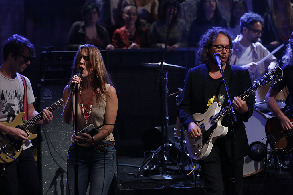 LATE NIGHT WITH JIMMY FALLON -- Episode 847 -- Pictured: Musical guest Broken Social Scene featuring Feist on June 6, 2013 --