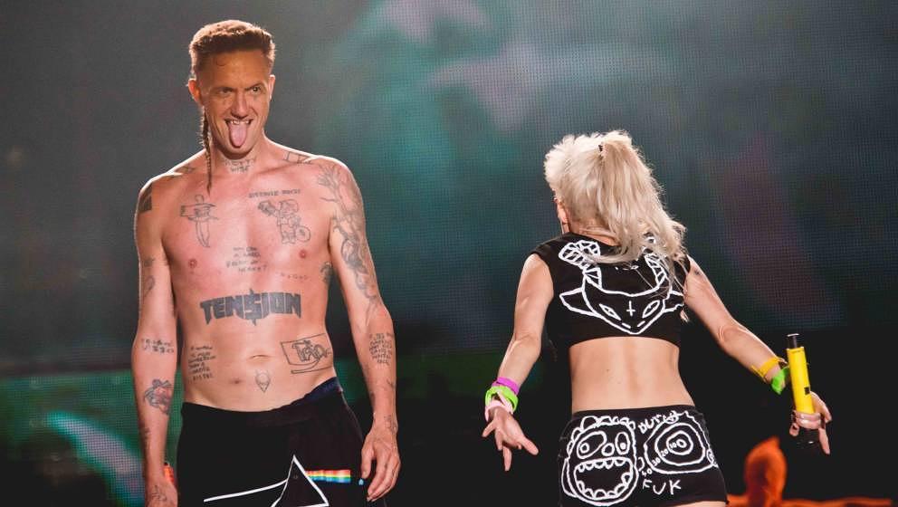 Yolandi Visser and Ninja of Die Antwoord perform at the Sziget Festival 2016