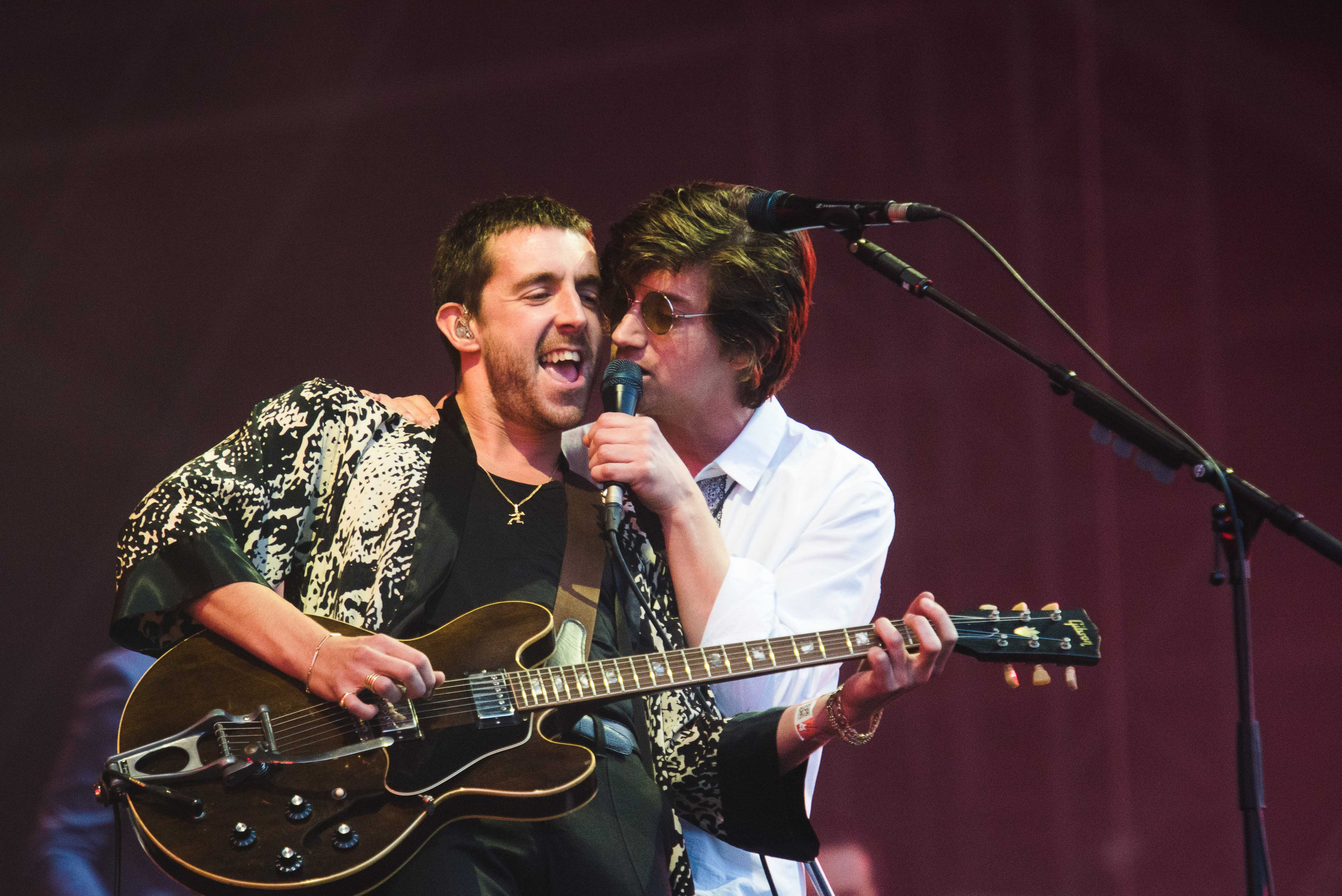 BUDAPEST, HUNGARY - AUGUST 16:  Miles Kane and Alex Turner of The Last Shadow Puppets performs on Day 6 at the Sziget Festiva