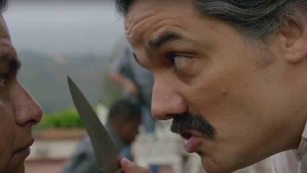 """Kennt keine Gnade, auch nicht für einstmals Verbündete: Pablo Escobar, in """"Narcos"""" hervorragend gespielt vom Brasiliane"""