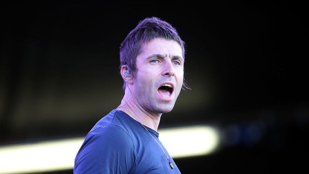 Liam Gallagher bei einem Beady-Eye-Auftritt in Auckland 2014