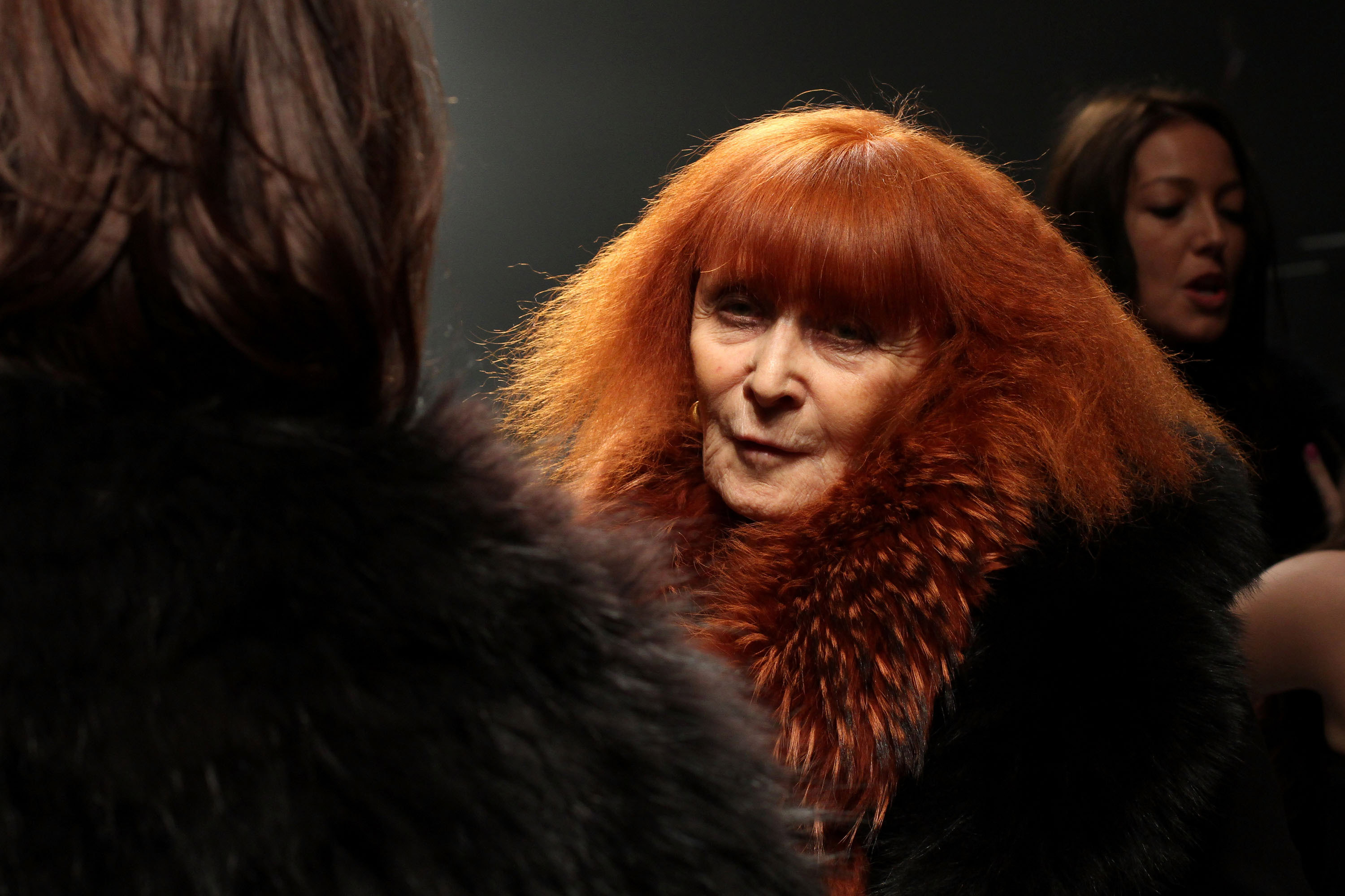 PARIS - MARCH 07:  Sonia Rykiel poses backstage after the Sonia Rykiel Ready to Wear show as part of the Paris Womenswear Fas