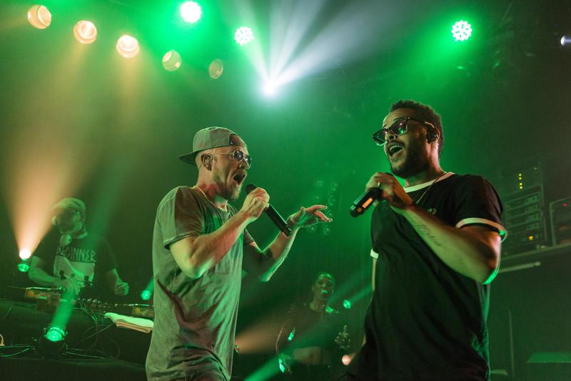 19/ Konzert: Beginner, DJ Guido Wei§ (alias DJ Mad), Rapper Dennis Lisk (alias Denyo), Rapper Jan Phillip Eissfeldt (alias E