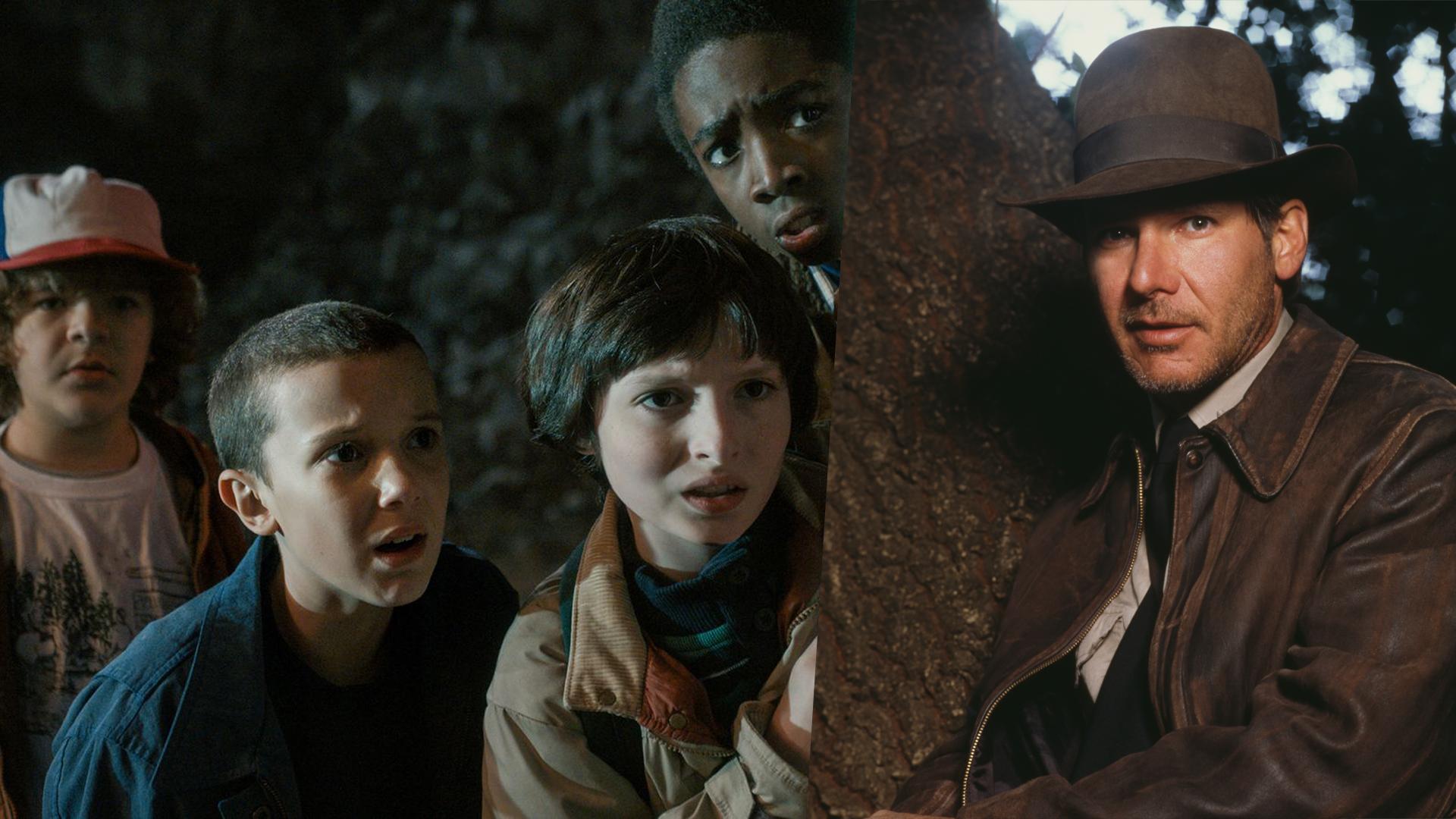 Dustin Henderson (Gaten Matarazzo), Eleven (Millie Bobby Brown), Mike Wheeler (Finn Wolfhard), Lucas Sinclair (Caleb McLaughl