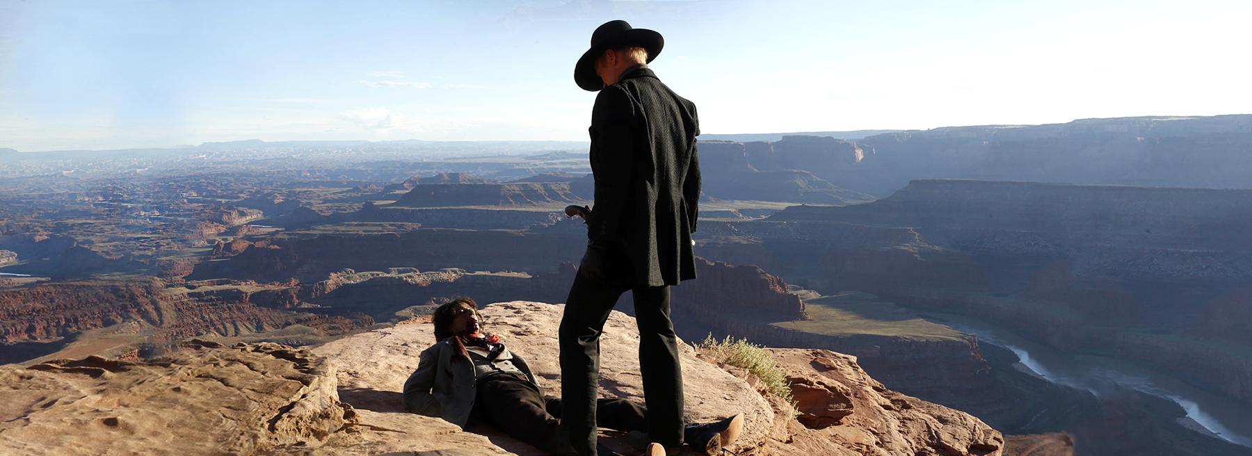 """In """"Westworld"""" wurde ein riesiger Vergnügungspark im Western-Look erbaut, in dem sich die Besucher nach Herzenslust aust"""