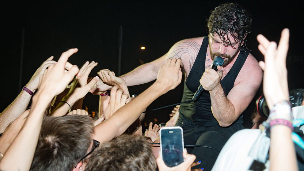 PARIS, FRANCE - AUGUST 28:  Yannis Philippakis from Foals performs at Rock en Seine on August 28, 2016 in Paris, France.  (Ph