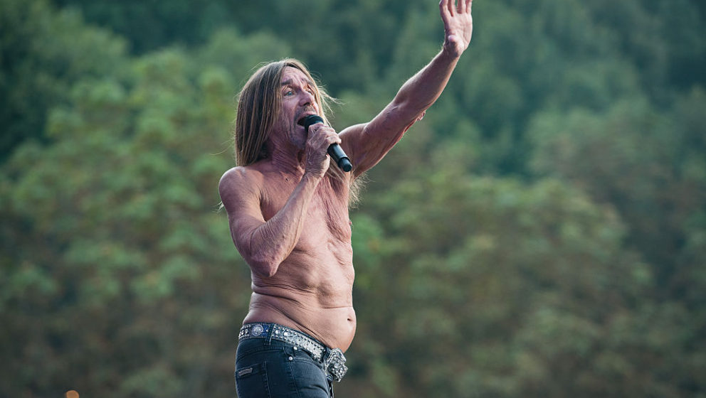 PARIS, FRANCE - AUGUST 28:  Iggy Pop performs at Rock en Seine on August 28, 2016 in Paris, France.  (Photo by David Wolff -